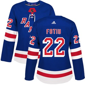 Women's Authentic New York Rangers Nick Fotiu Royal Blue Home Official Adidas Jersey