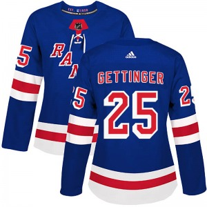 Women's Authentic New York Rangers Tim Gettinger Royal Blue Home Official Adidas Jersey