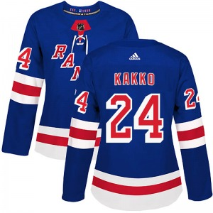 Women's Authentic New York Rangers Kaapo Kakko Royal Blue Home Official Adidas Jersey