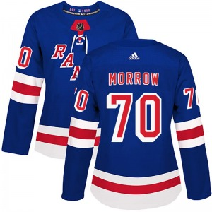 Women's Authentic New York Rangers Joe Morrow Royal Blue Home Official Adidas Jersey