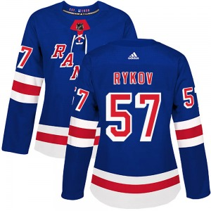 Women's Authentic New York Rangers Yegor Rykov Royal Blue Home Official Adidas Jersey