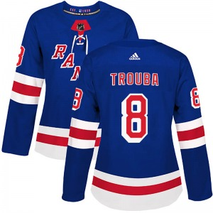 Women's Authentic New York Rangers Jacob Trouba Royal Blue Home Official Adidas Jersey