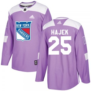 Youth Authentic New York Rangers Libor Hajek Purple Fights Cancer Practice Official Adidas Jersey