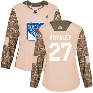 Women's Authentic New York Rangers Alex Kovalev Camo Veterans Day Practice Official Adidas Jersey
