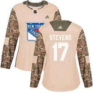 Women's Authentic New York Rangers Kevin Stevens Camo Veterans Day Practice Official Adidas Jersey