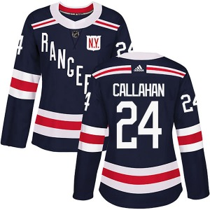 Women's Authentic New York Rangers Ryan Callahan Navy Blue 2018 Winter Classic Home Official Adidas Jersey