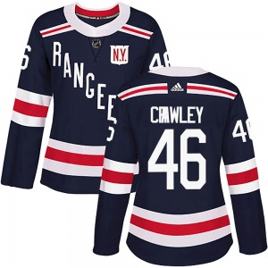Women's Authentic New York Rangers Brandon Crawley Navy Blue ized 2018 Winter Classic Home Official Adidas Jersey