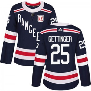 Women's Authentic New York Rangers Tim Gettinger Navy Blue 2018 Winter Classic Home Official Adidas Jersey