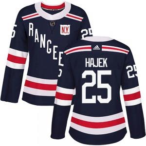 Women's Authentic New York Rangers Libor Hajek Navy Blue 2018 Winter Classic Home Official Adidas Jersey