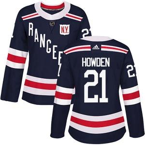 Women's Authentic New York Rangers Brett Howden Navy Blue 2018 Winter Classic Home Official Adidas Jersey