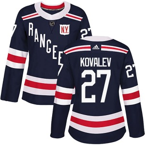 Women's Authentic New York Rangers Alex Kovalev Navy Blue 2018 Winter Classic Home Official Adidas Jersey