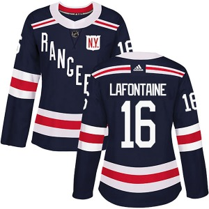Women's Authentic New York Rangers Pat Lafontaine Navy Blue 2018 Winter Classic Home Official Adidas Jersey