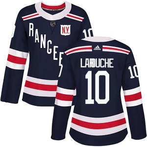 Women's Authentic New York Rangers Pierre Larouche Navy Blue 2018 Winter Classic Home Official Adidas Jersey