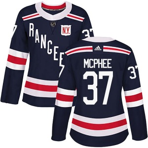 Women's Authentic New York Rangers George Mcphee Navy Blue 2018 Winter Classic Home Official Adidas Jersey