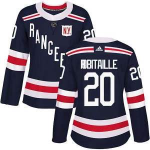Women's Authentic New York Rangers Luc Robitaille Navy Blue 2018 Winter Classic Home Official Adidas Jersey