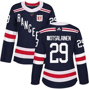 Women's Authentic New York Rangers Reijo Ruotsalainen Navy Blue 2018 Winter Classic Home Official Adidas Jersey