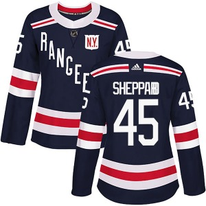 Women's Authentic New York Rangers James Sheppard Navy Blue 2018 Winter Classic Home Official Adidas Jersey