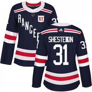 Women's Authentic New York Rangers Igor Shesterkin Navy Blue 2018 Winter Classic Home Official Adidas Jersey