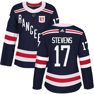 Women's Authentic New York Rangers Kevin Stevens Navy Blue 2018 Winter Classic Home Official Adidas Jersey
