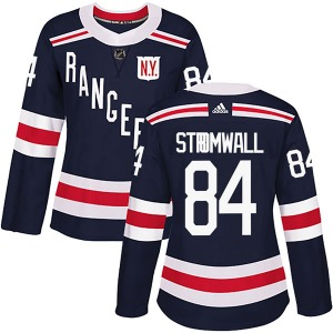 Women's Authentic New York Rangers Malte Stromwall Navy Blue 2018 Winter Classic Home Official Adidas Jersey