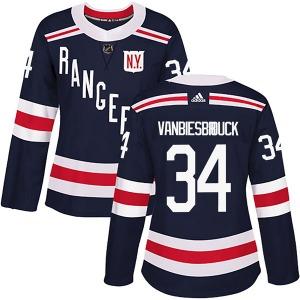 Women's Authentic New York Rangers John Vanbiesbrouck Navy Blue 2018 Winter Classic Home Official Adidas Jersey