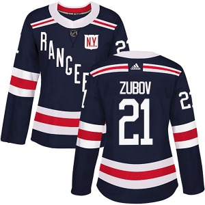 Women's Authentic New York Rangers Sergei Zubov Navy Blue 2018 Winter Classic Home Official Adidas Jersey