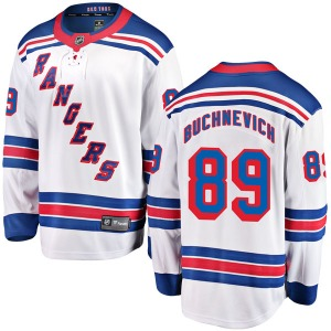 Youth Breakaway New York Rangers Pavel Buchnevich White Away Official Fanatics Branded Jersey