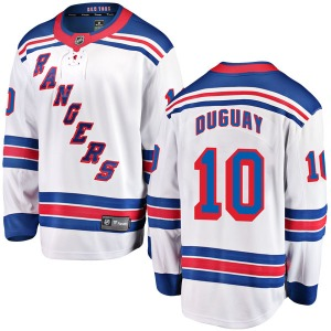 Youth Breakaway New York Rangers Ron Duguay White Away Official Fanatics Branded Jersey