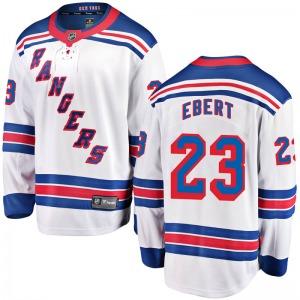 Youth Breakaway New York Rangers Nick Ebert White Away Official Fanatics Branded Jersey