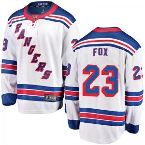 Youth Breakaway New York Rangers Adam Fox White Away Official Fanatics Branded Jersey