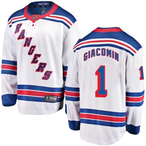 Youth Breakaway New York Rangers Eddie Giacomin White Away Official Fanatics Branded Jersey