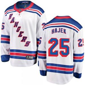 Youth Breakaway New York Rangers Libor Hajek White Away Official Fanatics Branded Jersey