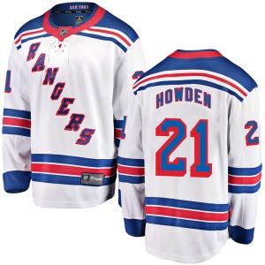Youth Breakaway New York Rangers Brett Howden White Away Official Fanatics Branded Jersey