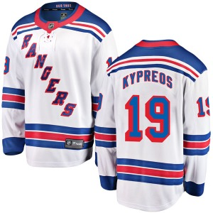 Youth Breakaway New York Rangers Nick Kypreos White Away Official Fanatics Branded Jersey