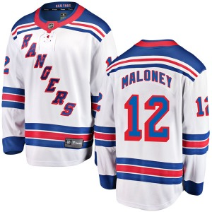 Youth Breakaway New York Rangers Don Maloney White Away Official Fanatics Branded Jersey