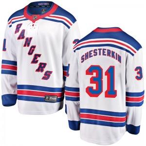 Youth Breakaway New York Rangers Igor Shesterkin White Away Official Fanatics Branded Jersey