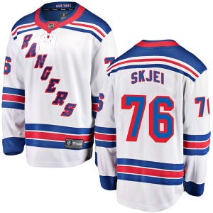 Youth Breakaway New York Rangers Brady Skjei White Away Official Fanatics Branded Jersey