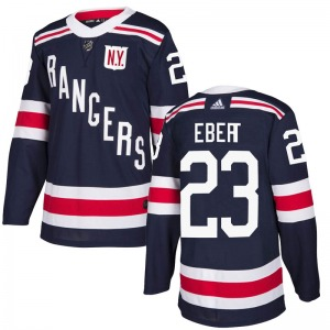 Youth Authentic New York Rangers Nick Ebert Navy Blue 2018 Winter Classic Home Official Adidas Jersey