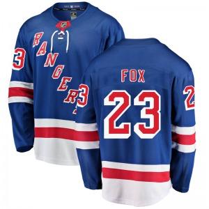 Youth Breakaway New York Rangers Adam Fox Blue Home Official Fanatics Branded Jersey