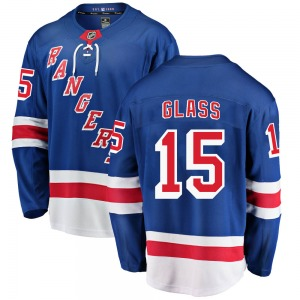 Youth Breakaway New York Rangers Tanner Glass Blue Home Official Fanatics Branded Jersey