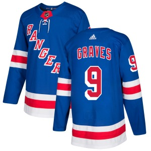Adult Authentic New York Rangers Adam Graves Royal Official Adidas Jersey