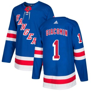 Adult Authentic New York Rangers Eddie Giacomin Royal Official Adidas Jersey