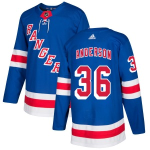 Adult Authentic New York Rangers Glenn Anderson Royal Official Adidas Jersey