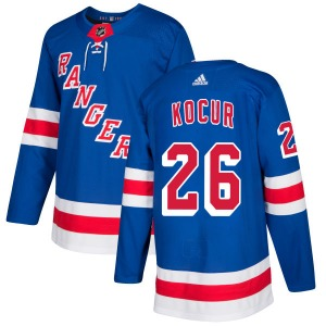 Adult Authentic New York Rangers Joe Kocur Royal Official Adidas Jersey