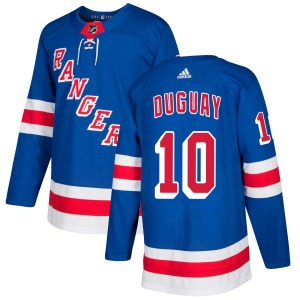 Adult Authentic New York Rangers Ron Duguay Royal Official Adidas Jersey