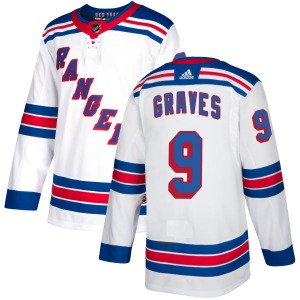Adult Authentic New York Rangers Adam Graves White Official Adidas Jersey