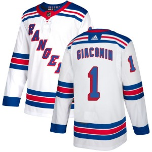 Adult Authentic New York Rangers Eddie Giacomin White Official Adidas Jersey
