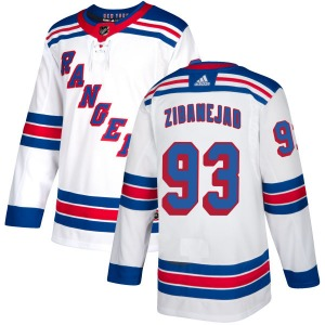 Adult Authentic New York Rangers Mika Zibanejad White Official Adidas Jersey