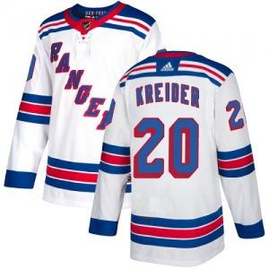 Women's Authentic New York Rangers Chris Kreider White Away Official Adidas Jersey