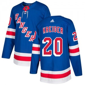 Youth Authentic New York Rangers Chris Kreider Royal Blue Home Official Adidas Jersey